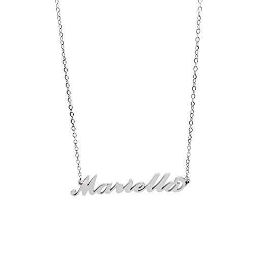 Minamini Bijoux Collana in Acciaio Inossidabile con Il Nome in tantissimi Varianti, Ideale per Regalo di Tutte Le Occasioni (Mariella)
