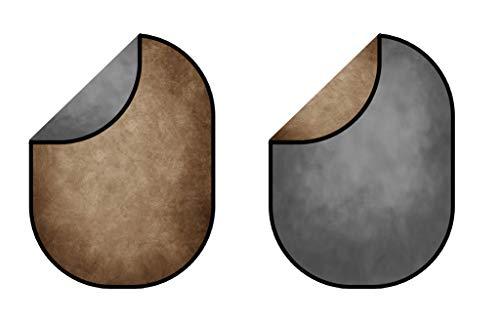 Kate 5x6.5ft/1.5x2m Telón de Fondo Plegable Textura Gris Fondos de Doble Cara...