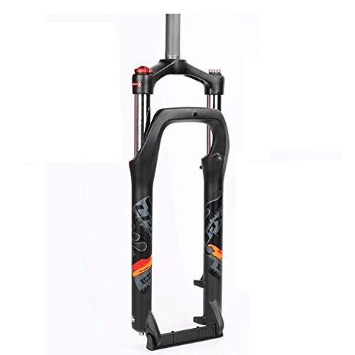 ZNDD Horquilla De Bicicleta BMX 20 26 Pulgadas MTB Horquilla De Suspensión De Bicicleta Neumático Grueso 4.0 Ancho del Buje del Amortiguador De Aire 135Mm Liberación Rápida 1-1/8'Viaje 105Mm HL