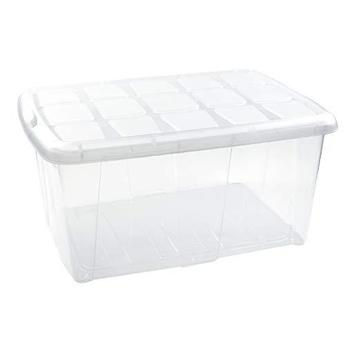 PLASTIC FORTE, Caja de almacenamiento, Multicolor, 60 litros, sin ruedas