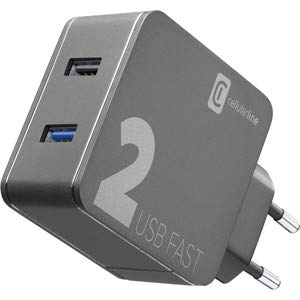 cellularline Multi-Power Home Charger 2X USB 18WQC+12W Black