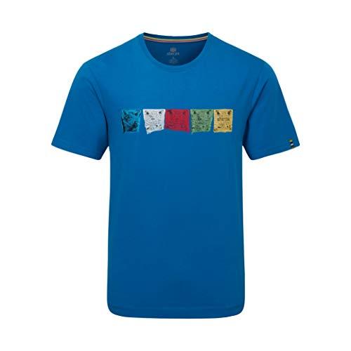 test Sherpa Gebetsfahne Himmelblaues T-Shirt – S. Deutschland