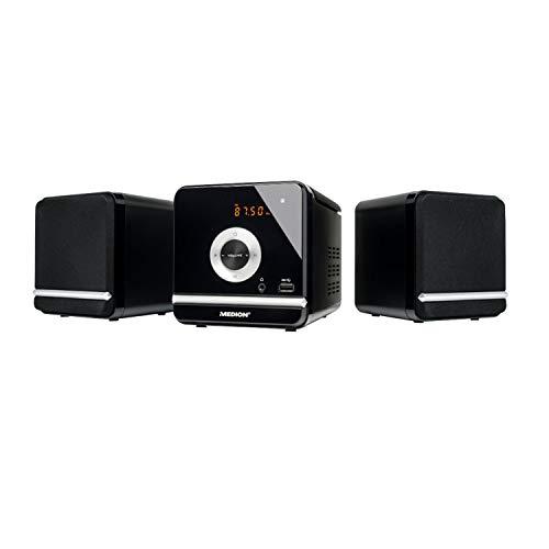 Medion Life P64102 MD 84497 Kompaktanlage (2 x 5 Watt RM, CD, MP3, USB, FM UKW, 30 Senderspeicher) schwarz