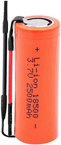 Baterías de Iones de Litio de 3,7 V 18500 2500mAH Ion de Litio Recargable, células de reemplazo para la antorcha LED de automóvil-1 Piezas
