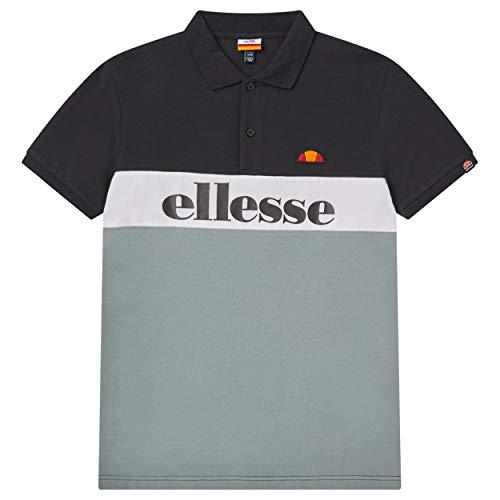 ellesse Rio Polo Shirt | Black/Grey Medium