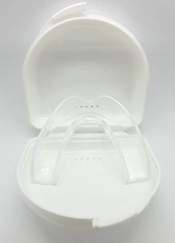 Bruxi-Splint Aufbissschiene Knirscherschiene gegen Zähneknirschen – Knirschschiene Schutz für Zahn und Kiefergelenk – Zahnschutz Schiene - bei Bruxismus/CMD inkl. Aufbewahrungsbox