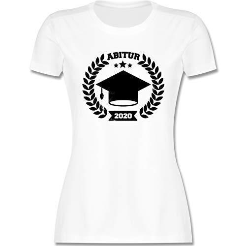 Abi & Abschluss - Abitur 2020 Vintage Effekt - XL - Weiß - Abitur Shirt 2020 - L191 - Tailliertes Tshirt für Damen und Frauen T-Shirt