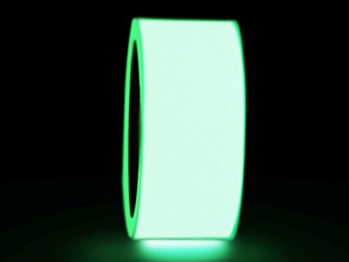 WOD GDT24 Photoluminescent Glow in The Dark Tape, Green - 2 in. X 10 yds. (Pack of 18) Ideal for Labeling Safety Signs and Emergency Exits