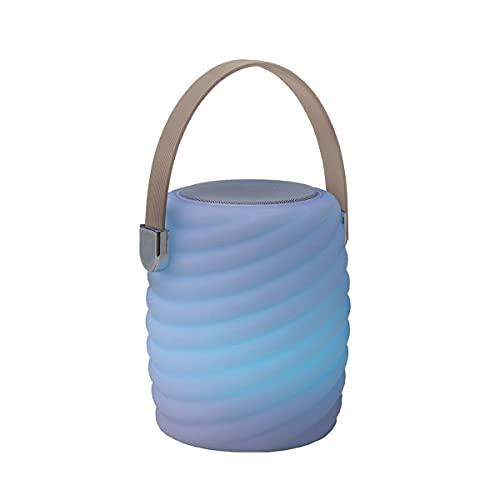 Mini baladeuse musicale bluetooth sans fil LED blanc/multicolore dimmable MINI RAY PLAY H28cm avec télécommande