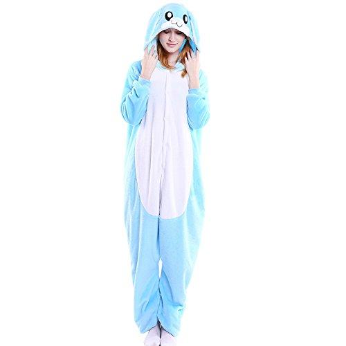 LSERVER Disfraz de Cosplay para Adultos Traje de Unisexo Pijama de Franela de Otoño e Invierno Estilo de Animales