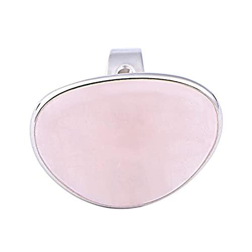 XIANZI Bonito anillo de mujer de cuarzo rosa con corazón de amor, ajustable, 1 4 x 1 1 pulgadas, tamaño 7, oro