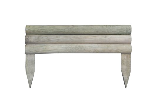OLG France 8711518132085 Mini Bordure, Bois Naturel, 50x14/30 cm