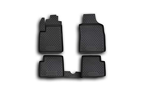 Element EXP.NLC.15.16.210k Passgenaue Premium Antirutsch Gummi Fußmatten-FIAT 500-Jahr: 07-20, schwarz