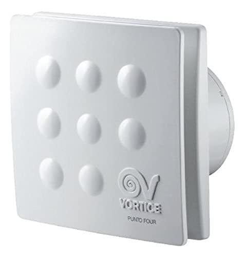 Vortice MFO100/4 11145 Aspiratori elicoidali da muro 10CM, Senza timer, 15 W, Bianco