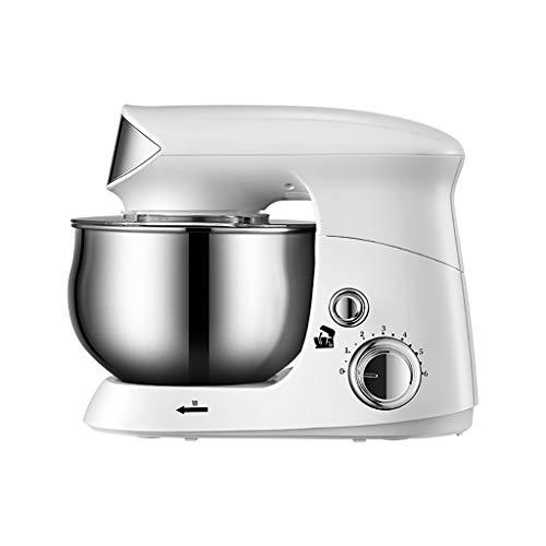Time Standmixer 2 in 1 Handmixer Lade Egg Beater, 5 Speed Mini Wireless Handmixer, Ei-Klopfer Haushaltselektroklein Baking Stir Creme Werkzeug 304 Edelstahl Netto 20W (Farbe : Weiß)