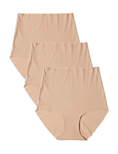 Marchio Amazon - Iris & Lilly Highwaist Seamless, Slip Donna, Pacco da 3, Beige (Natural), M, Label: M
