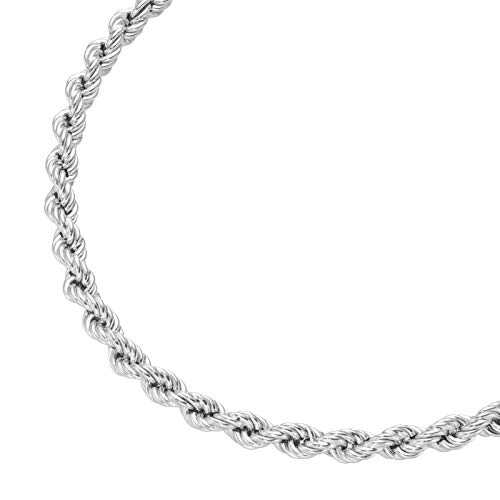 Smart Jewel Collier Gedreht, Kordel, Silber 925 Silber, 50 Cm 925 Sterling Silber