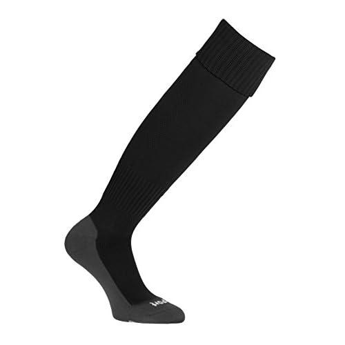 Uhlsport Team Pro Essential Calze a compressione, Multicolore (Black /grey sole), 33-36
