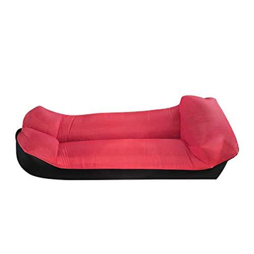Materassi gonfiabili per il letto, gonfiabili, divano anfibio, percepibile all'aria aperta, colore rosso, spesso, con cuscini gonfiabili, cuscino d'aria per campeggio, pieghevole