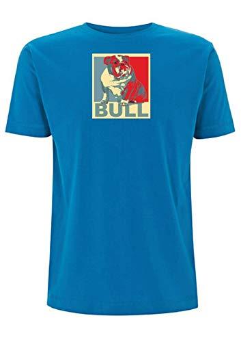 Camiseta con diseño de perro de toro inglés Azul azul eléctrico XL