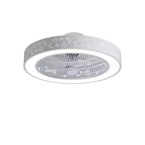 ASPZQ Ventilador de Techo con Luces Y Control Remoto, Lámparas Techo Contemporáneas Regulables 36W, Accesorio Iluminación Ventilador para Sala de Estar, Dormitorio (Color : H, Size : 200-240V)