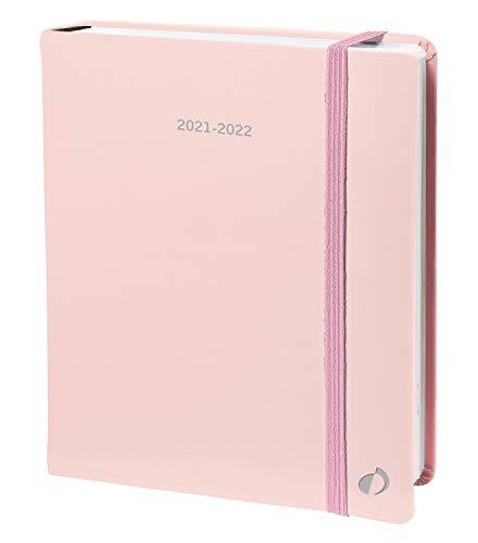 Quo Vadis 158005Q Agenda PLAN DAY Multilingua Anno 2021-2022-Colore Rosa- Formato 16x24cm Giornaliera 16 Mesi Settembre-Dicembre-Carta Bianca Die Terminkalender : Schreibtischformate