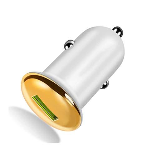 L-CAR Auto/USB-Ladegerät, Mini-Dual-USB-Autoladegerät, Flush Fit-Autoadapter, Für iPhone Und Mehr,Gelb