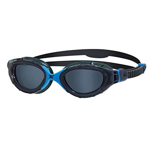 Zoggs Predator Flex Gafas de natación, Unisex Adulto, Gris/Azul/Tintado Ahumado, Regular