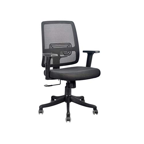 INNOWIN® Pony Mid Back Office Chair (Black) for Office & Home