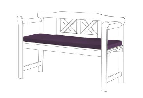Gardenista Garden Bench Outdoor Pad | Bench Patio Furniture 2 Seater Cushion | Water Resistant Material | Comfortable Durable and Lightweight (Purple)