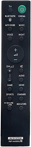 Replacement Remote Control for Sony RMT-AH500U HT-S350 Soundbar