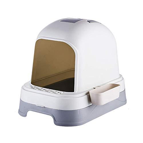 Caja de Arena para Gatos práctica y fácil de Limpiar NSYNSY Caja de Arena para Gatos encerrada Gatos Inodoro Casa Funcional para Mascotas, fácil Limpieza y prevención de olores