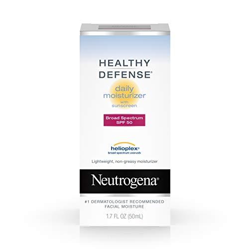 Neutrogena Healthy Defense Daily Vitamin C & Vitamin E Face Moisturizer, Sunscreen, 1.7 fl. oz pack of 2