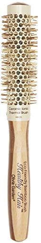 Olivia Garden Healthy Hair Spazzola Termica Rotonda in Bambù, Diametro 23mm - Spazzola ecologica in bambù