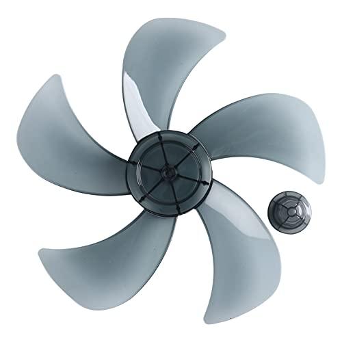 Agoky 14 Inches Aspas de Ventilador Palas de Ventilador Plástico de 5 Hojas Con/Sin Tuerca para Ventilador de Techo Ventilador de Pie Mesa Hojas Repuestos Ventilador Gris 14 Inch