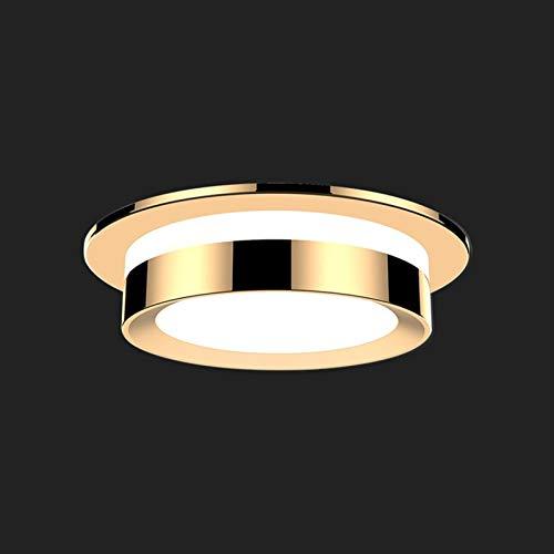 GLBS 5W/7W/9W/12W Dimensión De Tres Colores Iluminación Empotrada Aisle Porche Restaurante Dormitorio Panel De Techo Luz Aluminio Acrílico Inicio Negocio LED Downlight