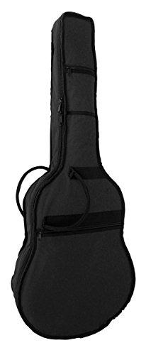 GITARRENTASCHE FÜR KONZERTGITARREN - RUCKSACKGARNITUR - GRIFF - SCHWARZ - 450 NYLONSTOFF - REIßVERSCHLUSS - VERS.GRÖßEN + GITARRENGURT (Tasche 75 für 1/2 Gitarren)
