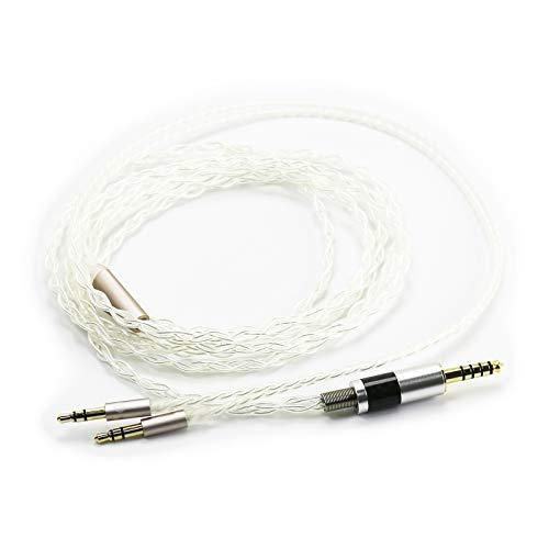 Ablet HiFi-Kabel mit 4,4 mm symmetrischem Stecker für Beyerdynamic T1 2nd, T5p Second Generation Kopfhörer und Sony WM1A, NW-WM1Z, PHA-2A versilbertes Audiokabel
