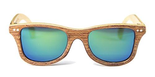 Gafas de madera Regular Bubinga Lente Verde Espejo - FELER