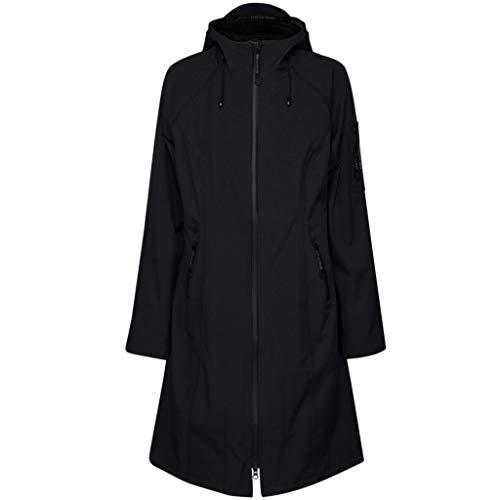 Ilse Jacobsen Klassische knielange Damen Jacke | Outdoor Regen Parka wasserdicht, Winddicht, atmungsaktiv | Softshell Polyester und Elastan | RAIN37L Blau 44