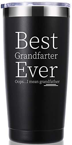 Best Grandfarter Ever I Mean Grandfather 20 OZ Tumbler.Grandpa Gifts.Birthday Gifts,Christmas Gifts for Men,New Grandpa,Grandpa Again,Granddad,New Grandfather,Husband,Men Travel Mug(Black)