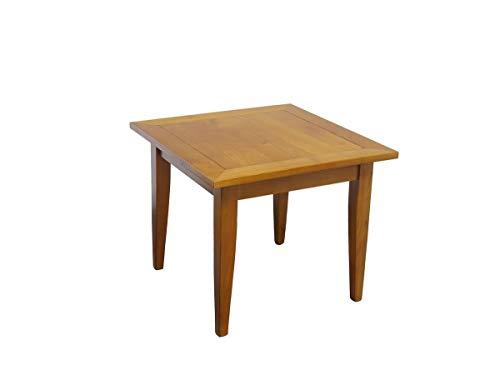 Antike Fundgrube Tisch Beistelltisch Couchtisch aus Kirschbaum massiv 50x60x60 cm (9187)