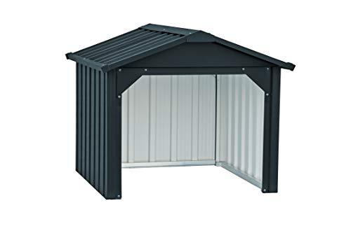 Duramax Mower Metal Garage | Cortacésped Trasero Cerrado y Estaciones de Carga de batería | Hecho de Acero galvanizado en Caliente | Impermeable y protección UV Robot cortacésped Carport, Antr