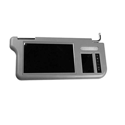 Cimoto Pantalla de Espejo Retrovisor Interior Parasol de Coche de 7 Pulgadas Monitor LCD Reproductor de DVD/VCD/GPS/TV CáMara Trasera (Derecha) Visera Solar