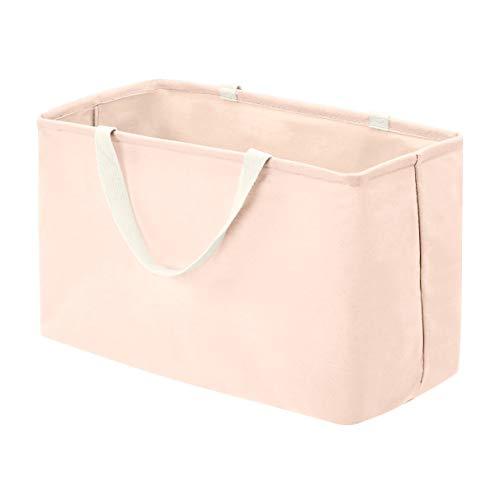Amazon Basics – Canasto de tela, grande, rectangular, rosa apagado