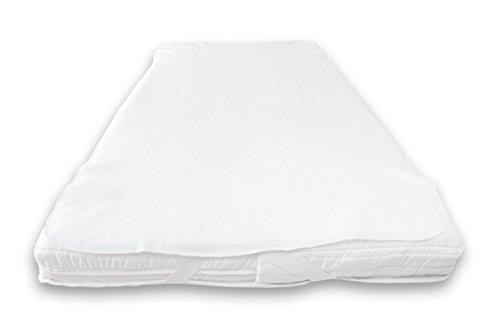 Waterdichte matrasbeschermer PU coating, plateau voor totale bescherming. 180 x 200 cm wit