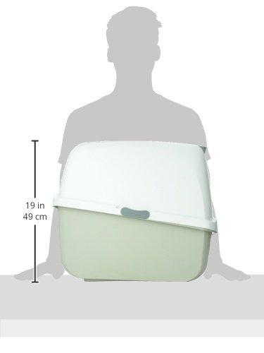 Catit 50702 Katzentoilette mit Abdeckung, grau - 5