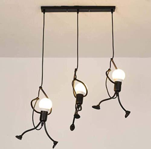 Candelabro de hombre pequeño candelabro de restaurante retro de hierro forjado candelabro creativo de tienda de ropa de café C