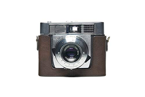 Zakao Kameratasche für Zeiss Ikon Symbolica-Kamera, handgefertigt, echtes Leder, Halb-Kameratasche für Zeiss Ikon Symbolica 35 mm Filmkamera mit Handschlaufe, Kaffeebraun