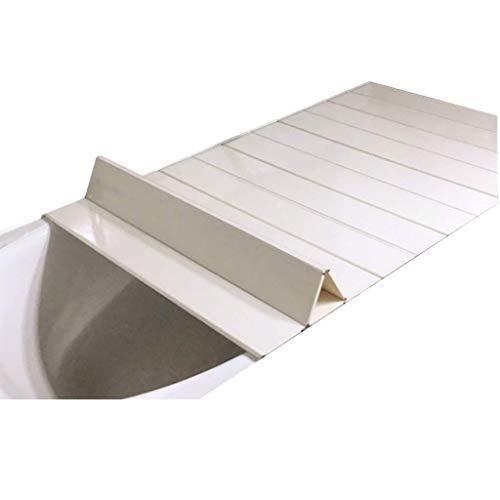 YGG-Bathtub Badewannenabdeckung Staubdichtes Brett Faltbare Badewanne Isolierabdeckung PVC-Halterung Badewanne Badewannenabdeckung Badewannenablage Badablage (Größe : 164 * 75 * 0.6cm)